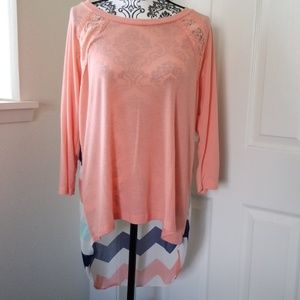 Never worn! Light weight 3/4 sleeve layering top